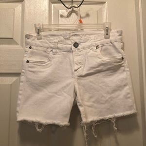 Kut From The Cloth White Stretch Jean Shorts